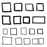 Set hand drawn square Stock Images