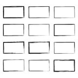 Set hand drawn square Royalty Free Stock Photo