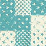 Set of hand drawn stars seamless backgroundŒ. Set of hand drawn stars seamless background. Vector illustration. For design of cloth, scrap booking paper, cards Royalty Free Stock Photography