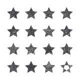 Set of hand drawn stars on white background. Vector illustration stock illustration