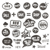 Set of hand drawn style badges and elements Royalty Free Stock Photo
