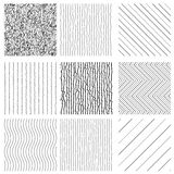 Set of Hand Drawn style Textures Royalty Free Stock Images
