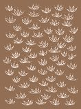 Set of hand drawn stylized decorative flowers. Sketch style. Vector elements for cute design. vector illustration