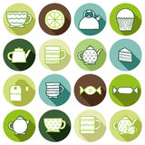Set of hand drawn teatime icons Royalty Free Stock Images