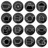Set of hand drawn teatime icons Royalty Free Stock Photos