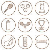 Set of hand drawn tennis icons Royalty Free Stock Photography