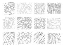 A set of hand-drawn textures. Royalty Free Stock Images