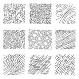 A set of hand-drawn textures. Royalty Free Stock Photo