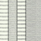 Set of hand drawn textures Stock Photography