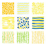 Set hand drawn textures Royalty Free Stock Images