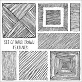 Set of Hand Drawn Textures Stock Photo