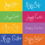 Set  of hand drawn typograhy Happy Easter Royalty Free Stock Photography