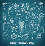 Set of hand-drawn Valentines Day elements Stock Photography