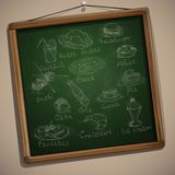 Set of Hand Drawn Various Elements Stock Photo