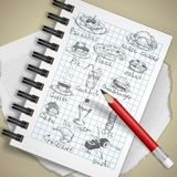 Set of Hand Drawn Various Elements Royalty Free Stock Images