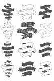 Set of Hand drawn vector banners Royalty Free Stock Image