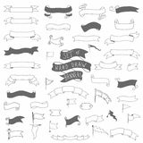 Set of hand drawn vector banners Stock Photo