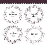 The set of hand drawn vector circular decorative Stock Photo