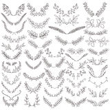 The set of hand drawn vector circular  elements Royalty Free Stock Image