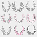 The set of hand drawn vector decorative elements for your design. stock photos
