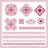 Set of hand drawn vintage floral. Vector set of hand drawn vintage floral pattern Stock Image