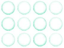 Set of Hand drawn watercolor circle frames. Royalty Free Stock Photo