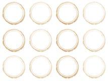 Set of Hand drawn watercolor circle frames. Stock Photo