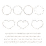 Set of hand drown decorative elements Stock Images