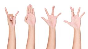 A set of hand gesture Stock Photo