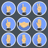 Set hand gesture Royalty Free Stock Image
