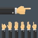 Set hand gesture. Vector Stock Photo
