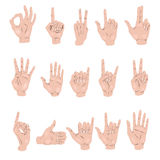 Set of hand gestures Royalty Free Stock Images