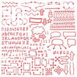 Set Hand gezeichnete Elemente Lizenzfreies Stockbild