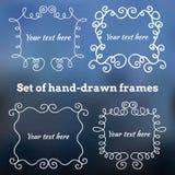 Set Hand gezeichnete Felder Stockbild