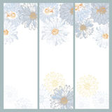 Set of hand made floral cards Royalty Free Stock Photos