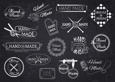 Set of hand made labels, badges and logos for Royalty Free Stock Images
