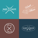 Set of hand made labels, badges and logos for. Design. Vector illustration royalty free illustration