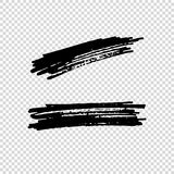 Set of Hand Painted Brush Strokes. Vector Grunge Brushes. Dirty Artistic Design Elements. Vector illustration. Set of Hand Painted Brush Strokes. Vector Grunge Stock Photography