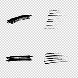 Set of Hand Painted Brush Strokes. Vector Grunge Brushes. Dirty Artistic Design Elements. Vector illustration. Set of Hand Painted Brush Strokes. Vector Grunge Stock Photo