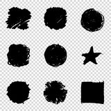 Set of Hand Painted Brush Strokes. Vector Grunge Brushes. Dirty Artistic Design Elements. Vector illustration. Set of Hand Painted Brush Strokes. Vector Grunge Royalty Free Stock Image
