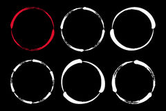 Set of hand painted ink circles. Graphic design elements for web sites, stationary printables, corporate identity, scrapbooking, posters etc. Vector Stock Images
