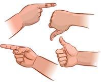 Set of hand pointers stock illustration