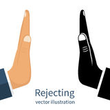Set of hand rejection gestures. Royalty Free Stock Image