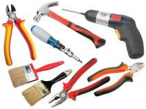 Set of hand-tools Stock Photos
