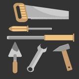 Set of hand tools Royalty Free Stock Photo