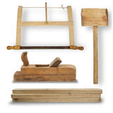Set of hand tools for joinery Royalty Free Stock Photo
