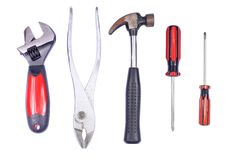 Set of hand tools Stock Photos