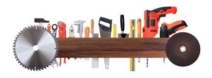 Set of hand tools Stock Photos
