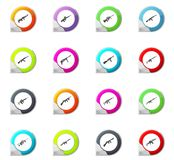 Set of hand weapons. Hand weapons pointer on the color icons for your design Royalty Free Stock Photography