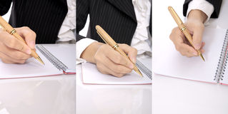 Set Of Hand Writing Woman Royalty Free Stock Photography